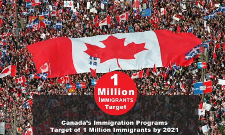جذب ۱ میلیون مهاجر تا سال ۲۰۲۱ در سراسر کانادا